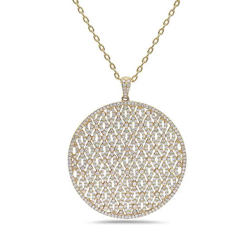 Collar Oro amarillo con diamantes