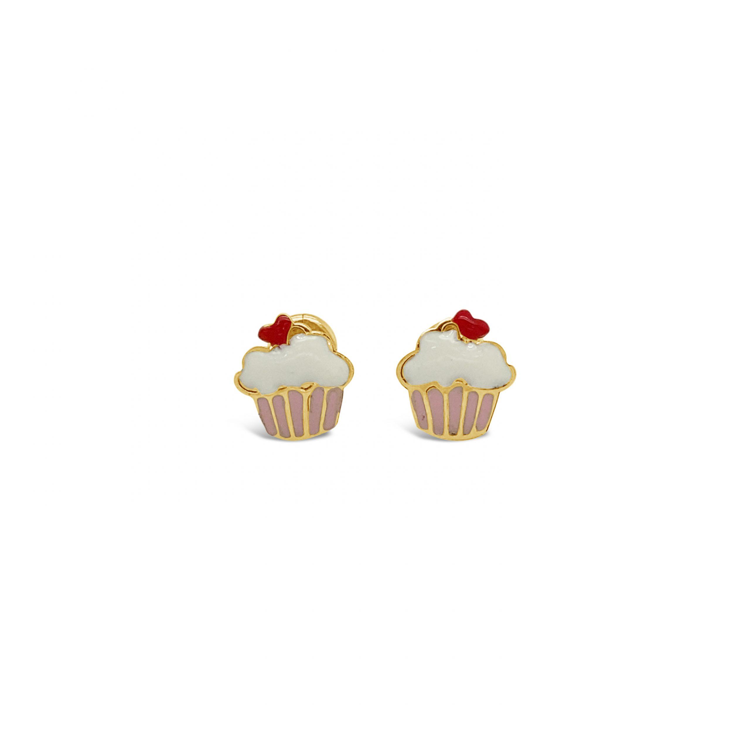 Aretes Cupcake Esmaltado