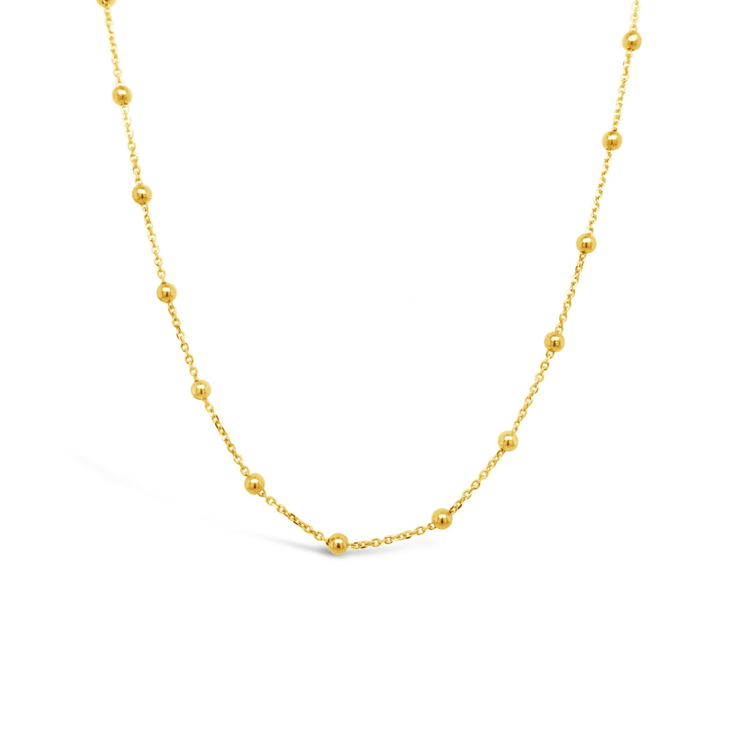 Collar Bolitas Oro 18k