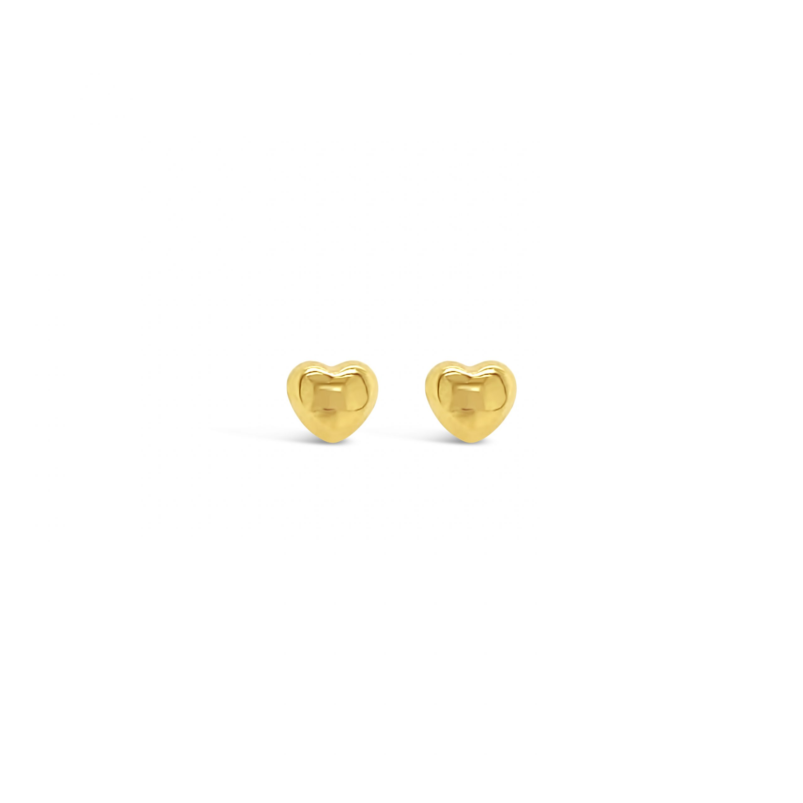 Aretes Corazón Oro 18k