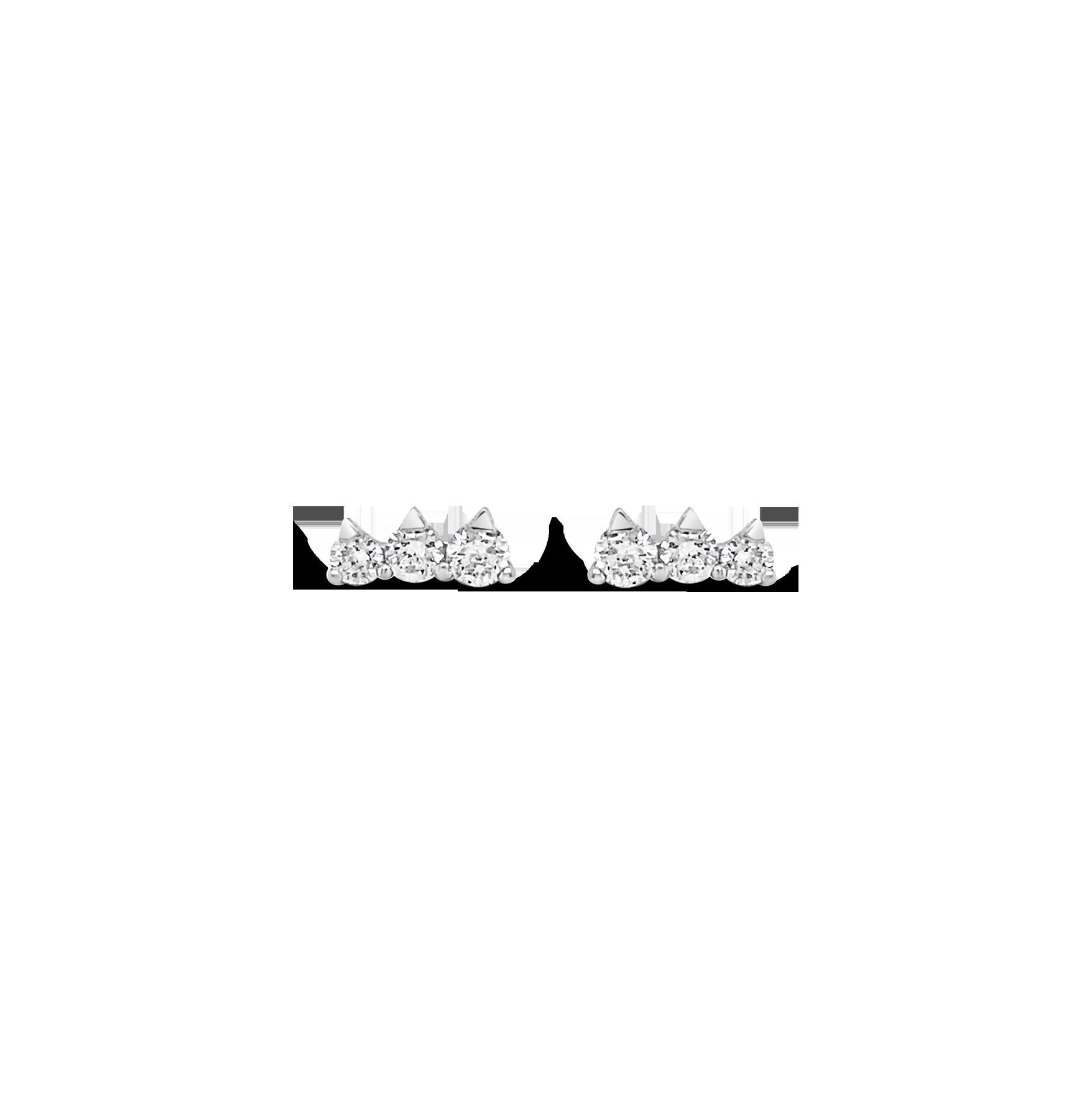 Aretes Tres Brillantes