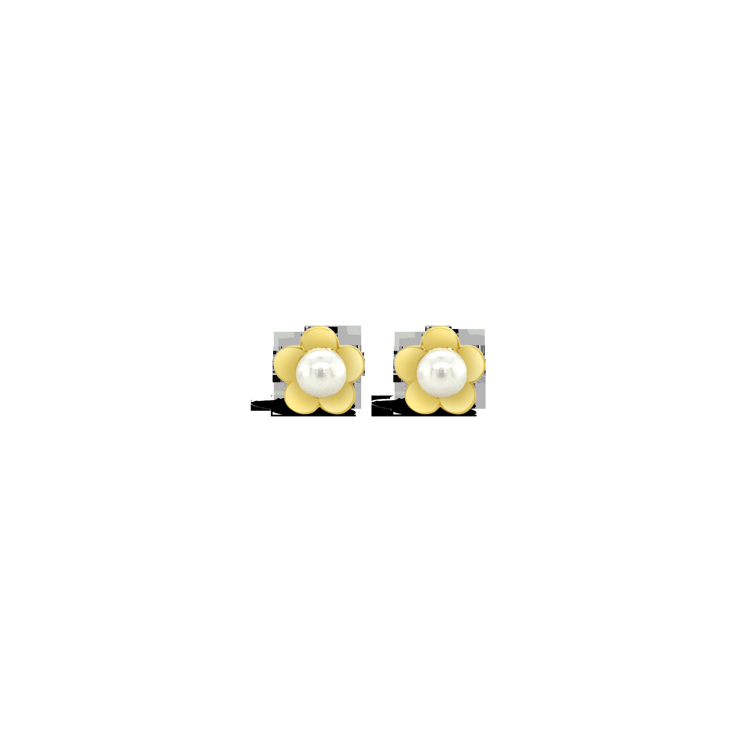 Aretes Flor Perla