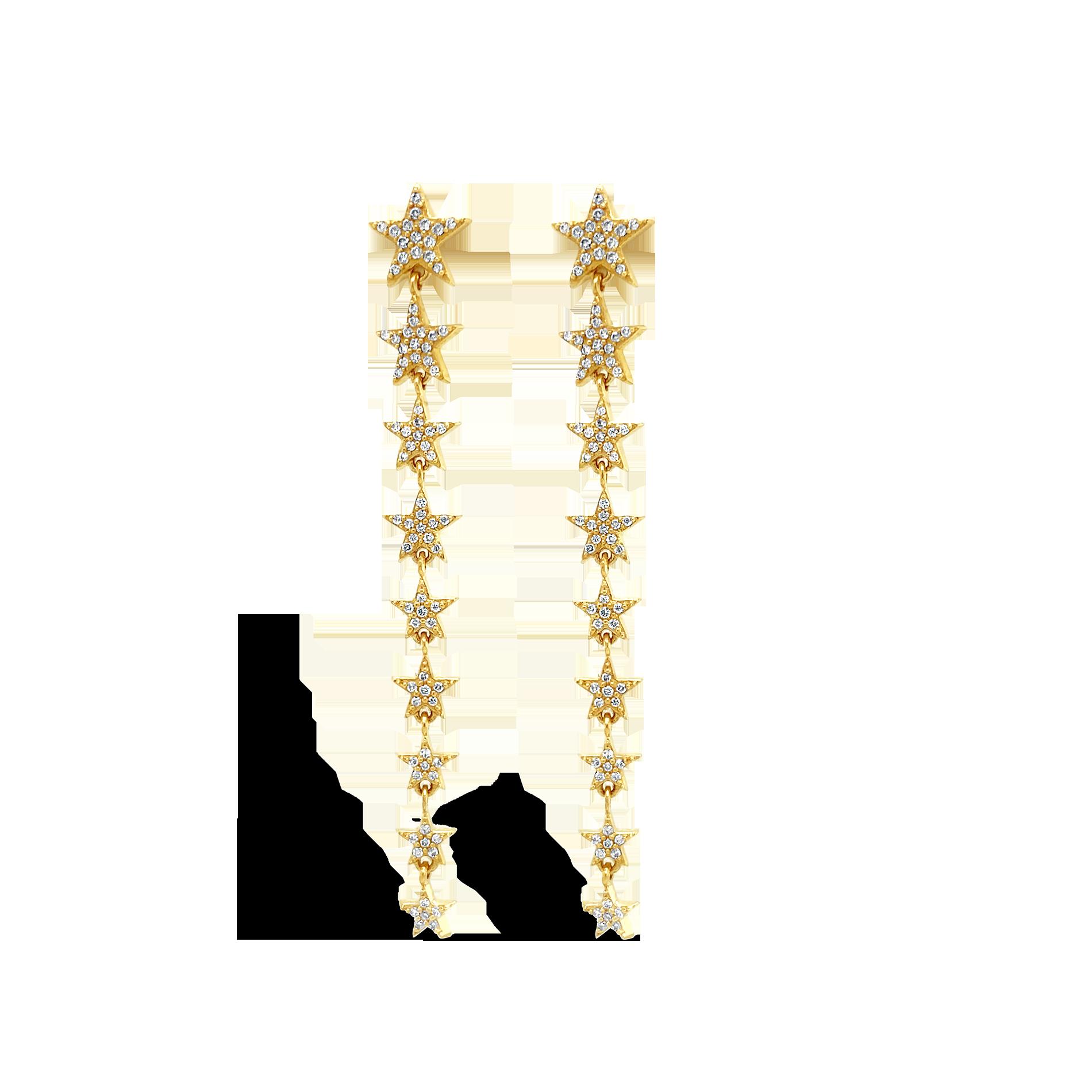 Aretes Largos Estrellas